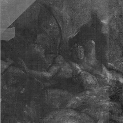 X-radiograph, Peter Paul Rubens, The Fall of Phaeton, detail