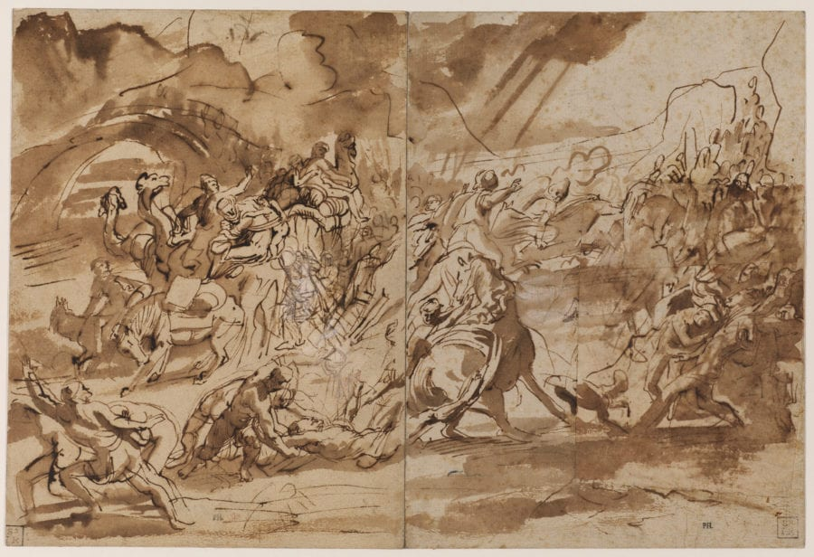 Peter Paul Rubens, The Conversion of Saint Paul, preparatory drawing, The Courtauld Gallery, London