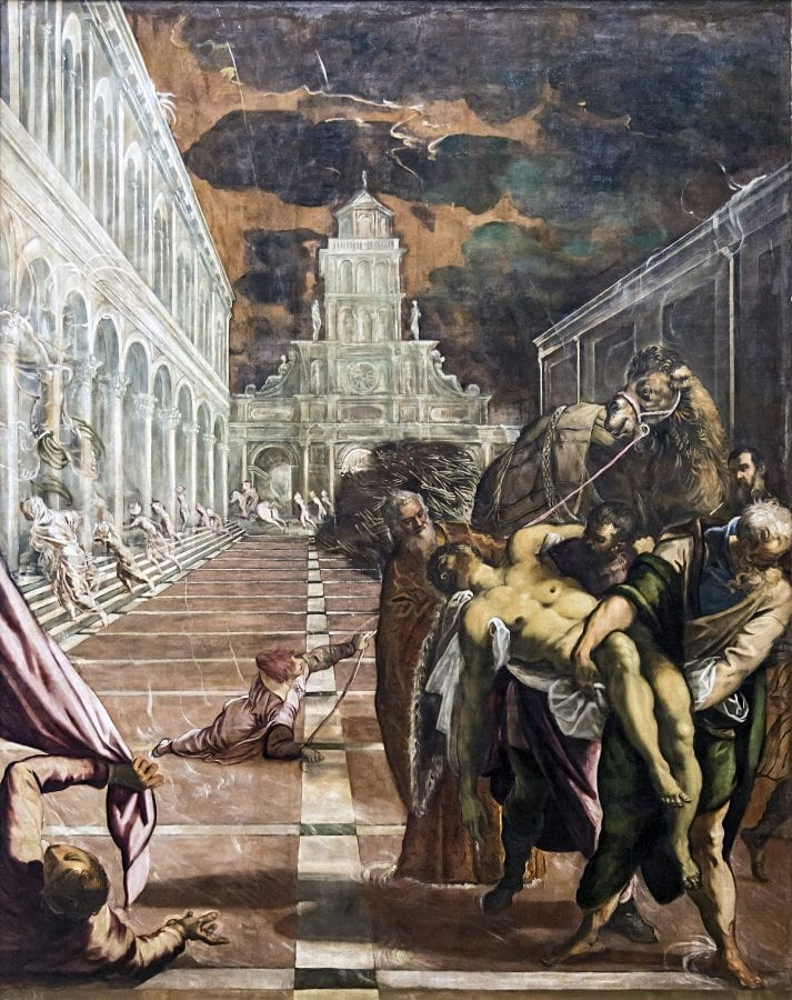 Jacopo Tintoretto, The Transportation of the Body of Saint Mark, ca. 1562-1566, Galleria dell'Accademia, Venice
