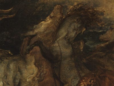 Peter Paul Rubens, The Death of Hippolytus, detail of horses, ca. 1610-1612, The Courtauld Gallery, London