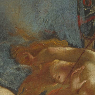 Peter Paul Rubens, The Fall of Phaeton, detail of the the sky, begun ca. 1604–1605, completed ca. 1610–1612, National Gallery of Art, Washington