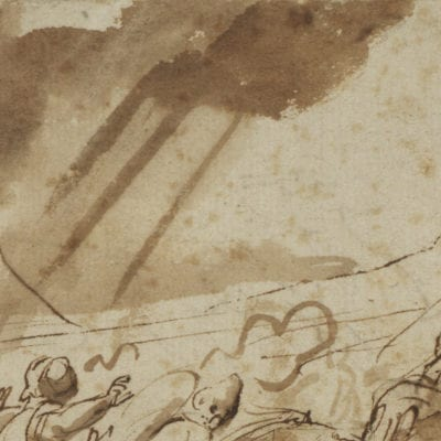 Peter Paul Rubens, The Conversion of Saint Paul (drawing- detail), ca. 1610–1612, preparatory drawing, The Courtauld Gallery, London