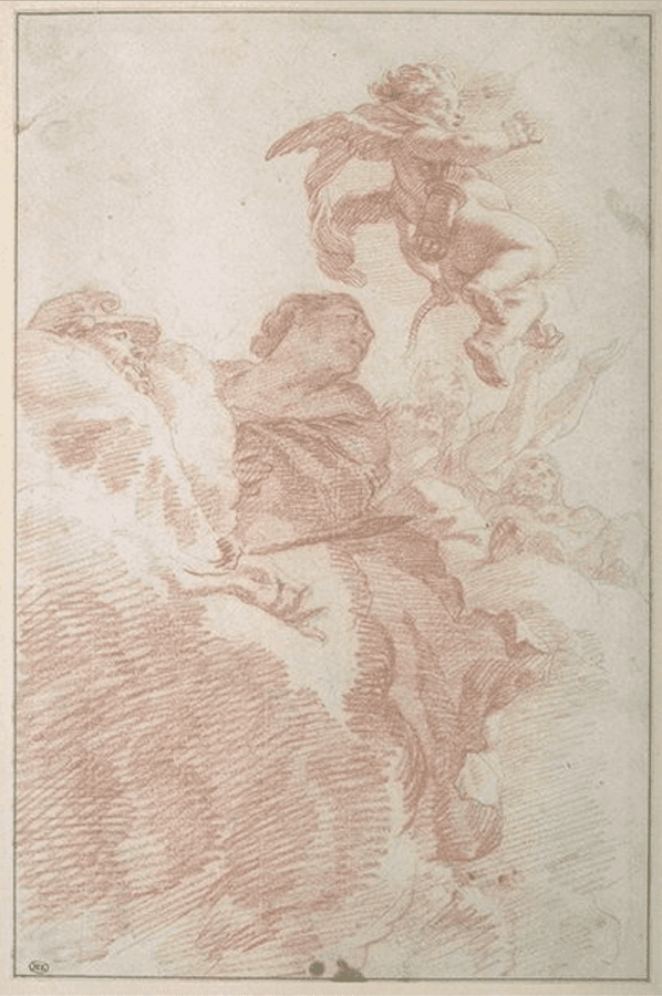 Gérard de Lairesse,  Study with Cupid, Venus and Mars,  c. 1670, Paris, Musée du Louvre