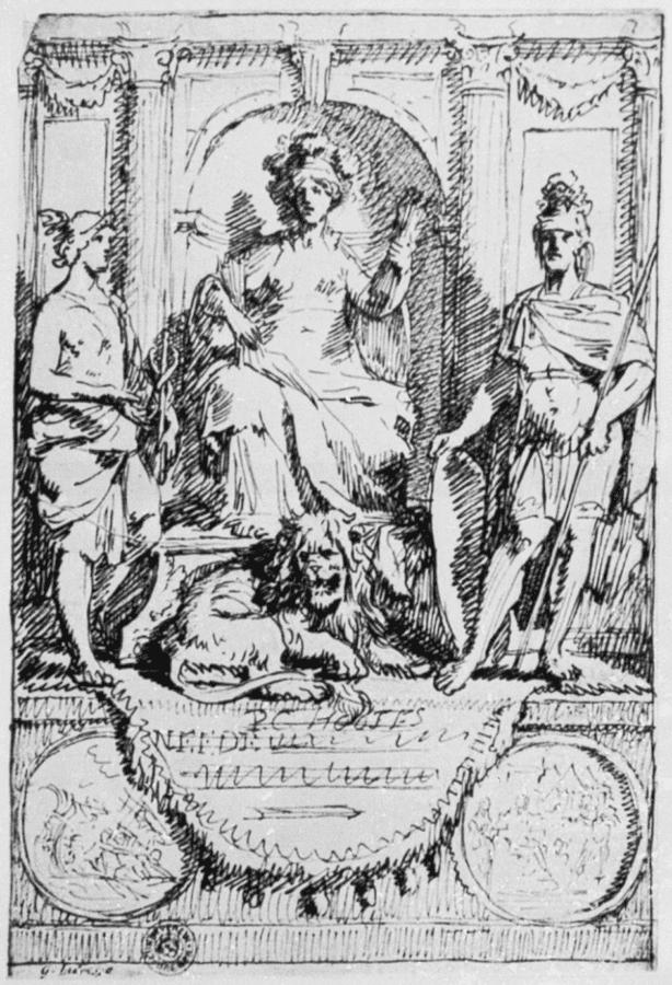 """Gérard de Lairesse, Study for P. C. Hooft's """"Nederlandsche Histor, c. 1677, Amsterdam, Rijksmuseum"""