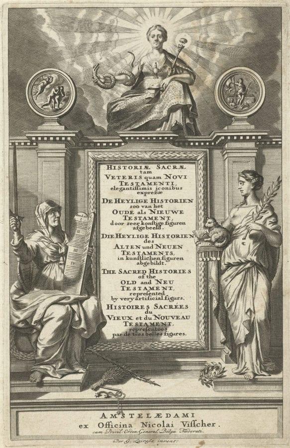 Abraham de Blois (?) after Gérard de Lairesse, frontispice for Historiae Sacrae tam Veteris quam, Amsterdam, RijksmuseumAmsterdam, Rijksmuseum