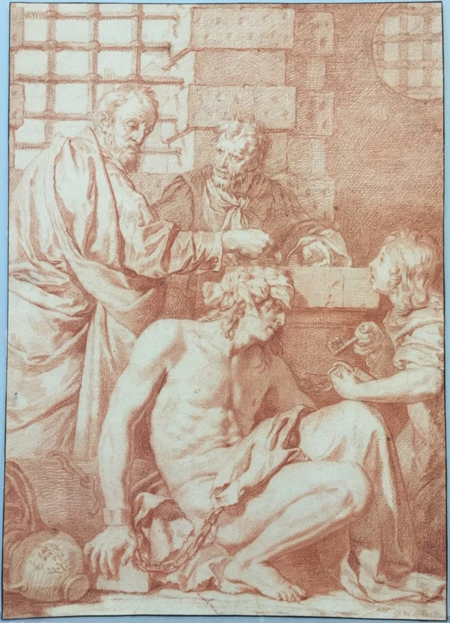 Gérard de Lairesse,  Visiting the Captives,  c. 1675, Berlin, Kupferstichkabinett