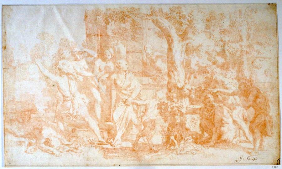 Gérard de Lairesse (?), Bacchic Scene, Gottingen, Kunstsammlungen der Universität