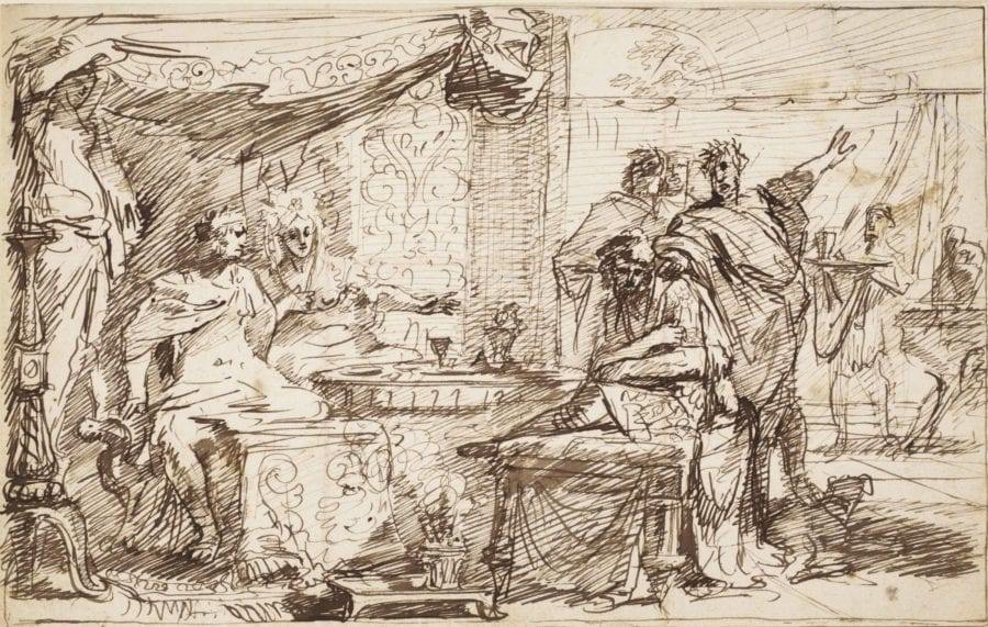 Gérard de Lairesse, Esther Accusing Haman in the Presence of Ahasuerus, Sale Amsterdam, Christie's (I.Q. van Regteren Altena), December 10, 2014, lot 186