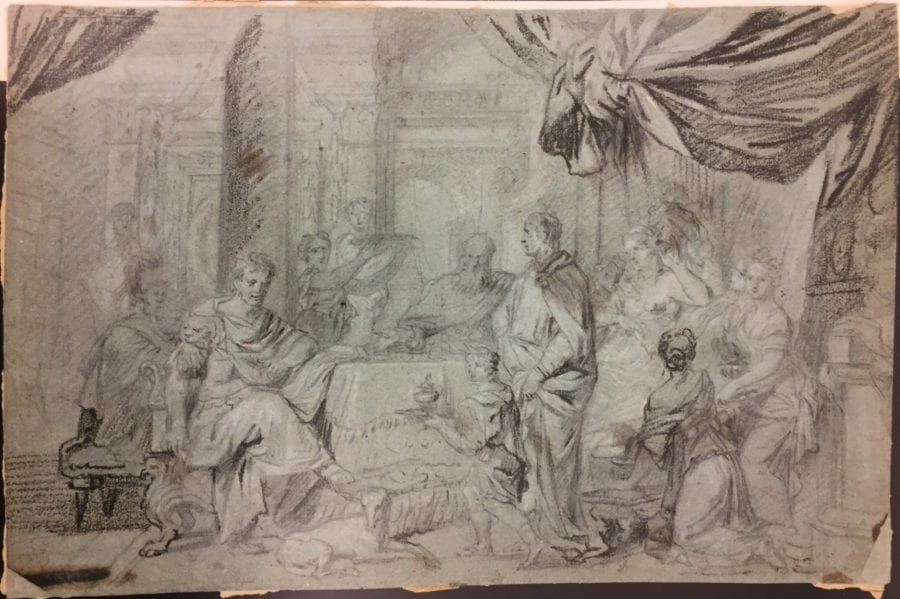 Gérard de Lairesse, The Banquet of Cleopatra, Sale Paris, Christie's, November 21, 2007, lot 57