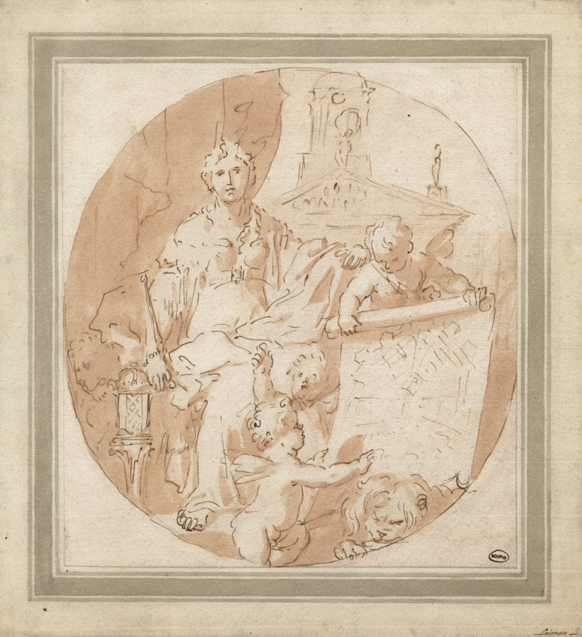 Gérard de Lairesse or circle, Allegory on the Expansion of Amsterdam, Gouda, Foolscap Fine Art