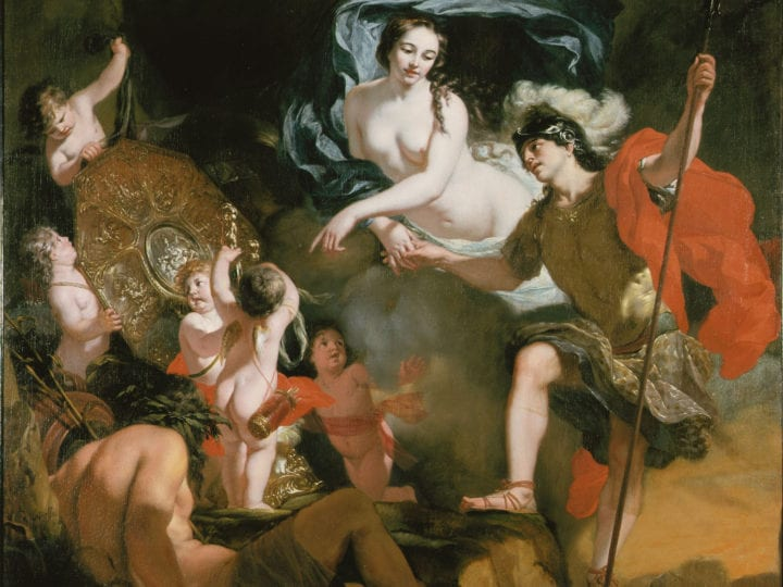 Gérard de Lairesse, Venus Presenting Weapons to Aeneas, second half 17th century, oil on canvas, 161.8 x 165.8 cm, Museum Mayer van den Bergh