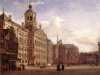 Jan van der Heyden,  Amsterdam, Dam Square with the Town Hall and the , 1668,  Musée du Louvre, Paris