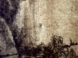 Transmitted-light image showing watermarkRembrandt Harmenszoon van Rijn, The Flight into Egypt, after Hercules Seghers,