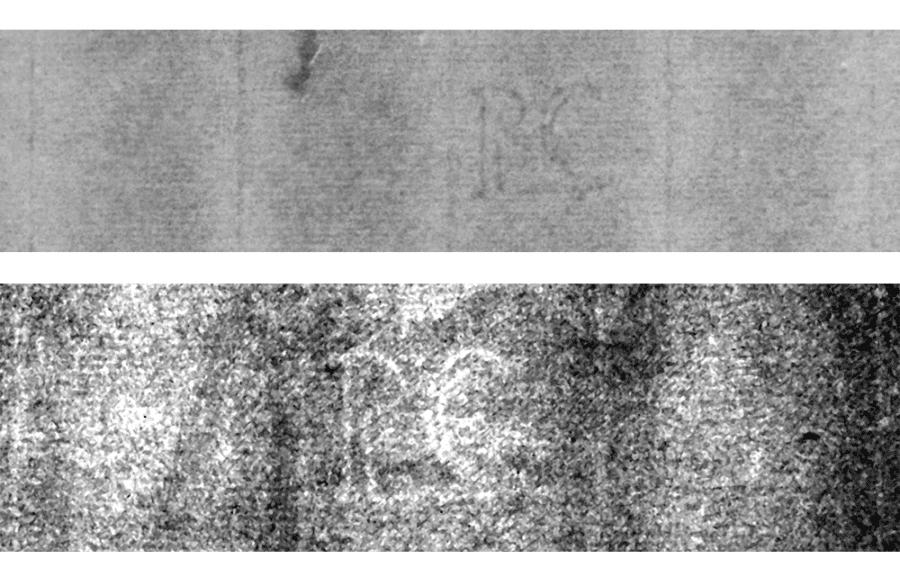 Top: Watermark under investigation Bottom: RC