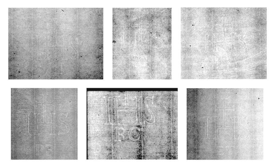 Samples of each subvariant of IHS variant B: Top row (left to right): B'.a, B.a.a, B.b.a. Bottom row (left to right): B.c, B.d, B.e.a