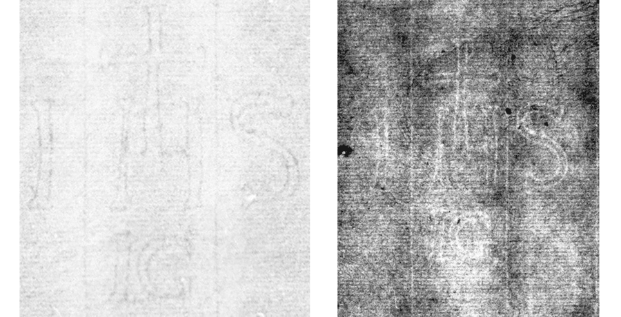 Left: Countermark under investigation Right: IHS B.a.a