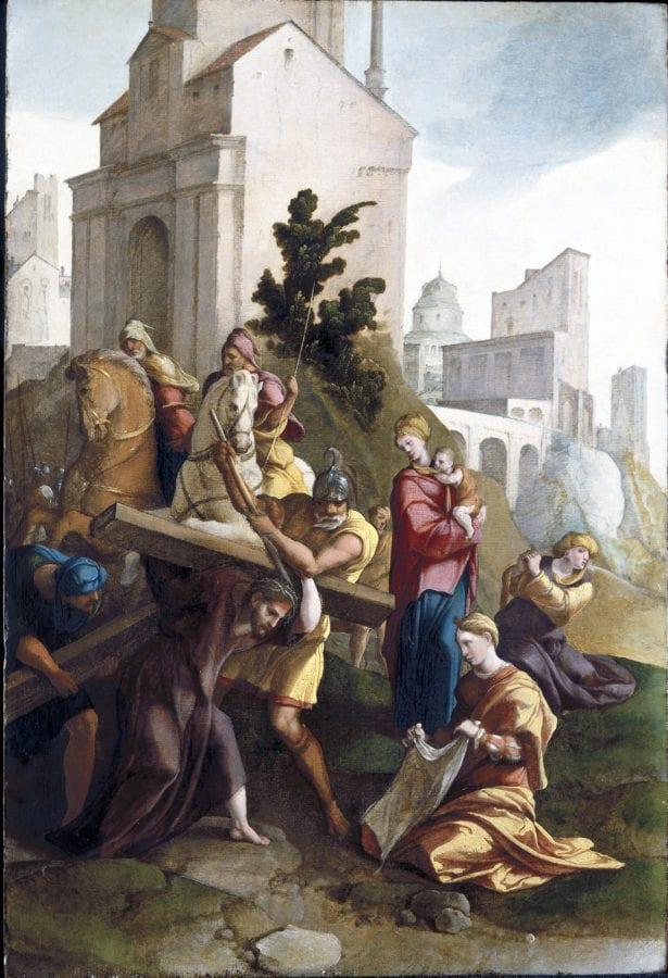 Jan van Scorel and workshop, Carrying of the Cross, ca. 1530