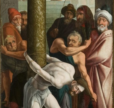 Detail of Flagellation in fig. 9