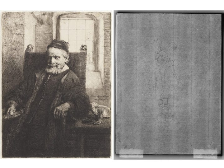 Decision Trees for Watermark Identification in Rembrandt's Etchings