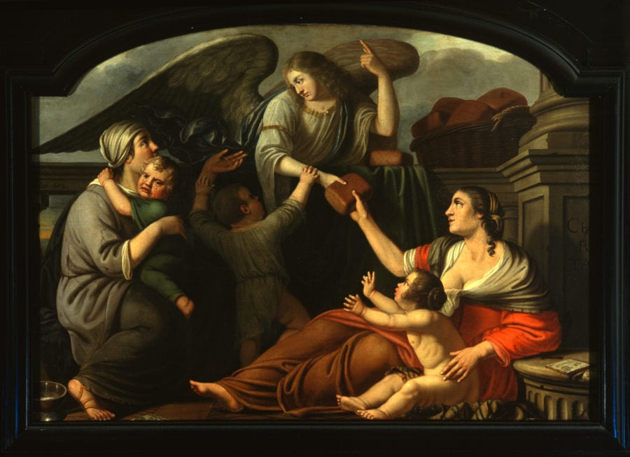 Cornelis de Man, Allegory of the Virtuous Life, signed and dated 1682, oil on canvas