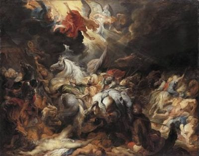 Peter Paul Rubens, The Defeat of Sennacherib, ca. 1617, oil on panel, Alte Pinakothek, Bayerische Staatsgemäldesammlungen, Munich
