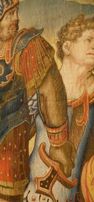 Detail from Saint Paul Seized at the Temple of Jerusalem, designed by Pieter Coecke van Aelst, ca. 1529–30, before 1558, Patrimonio Nacional, Madrid,
