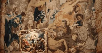 Installation photo, _Rubens: El triunfo de la Eucaristía_ (exhibition), 2014, Museo Nacional del Prado, Madrid