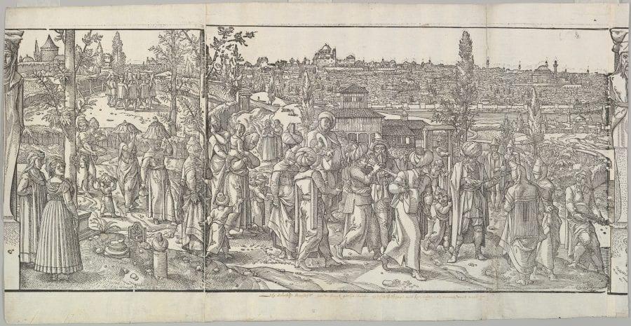 Pieter Coecke van Aelst, Celebration of a Circumcision from _Ces Mœurs et fachons de faire de Turcq_, 1518-1600, woodcut, The Metropolitan Museum of Art, New York
