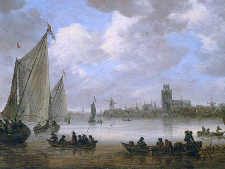 Gezicht op de Oude Maas bij Dordrecht *oil on panel *67.2 x 98.1 cm *signed b.c.: VG 1651*1651