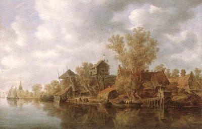 Jan van Goyen, River View, 1636, Alte Pinakothek, Munich