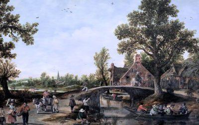 Jan van Goyen, Village View, 1625, Kunsthalle, Bremen