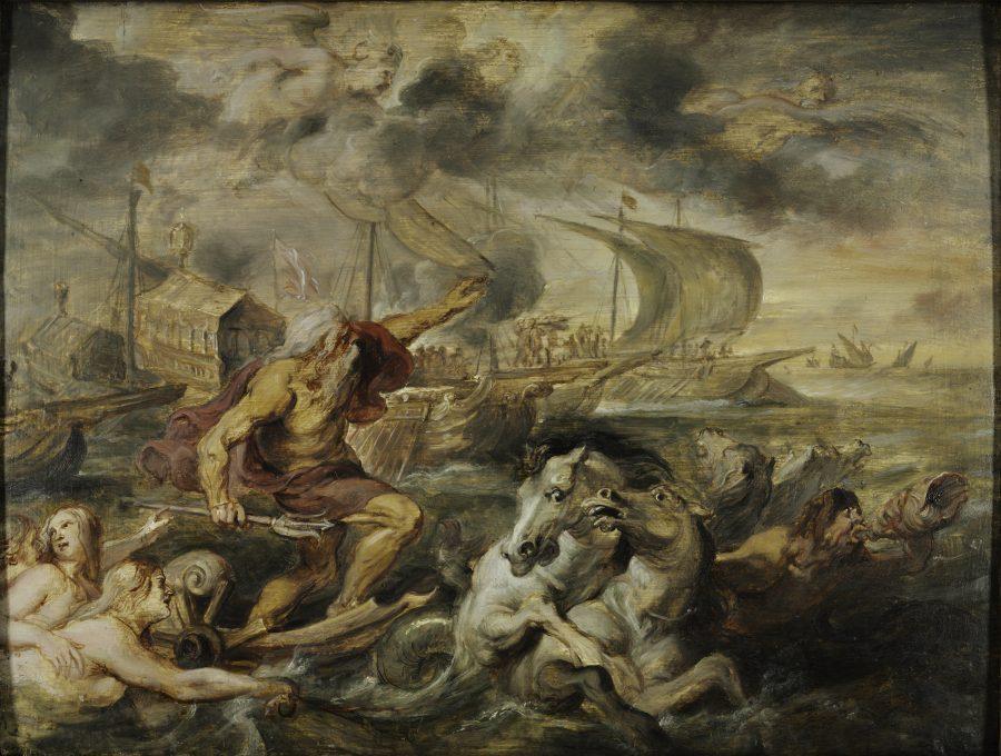 Peter Paul Rubens, The Voyage of the Cardinal Infante Ferdinand..., 1635, Harvard Art Museums, Fogg Museum