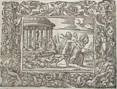 Virgil Solis after Bernard Salomon, woodcut from Ovid, Metamorphoses (Frankfurt am Main: Feyerabend, 1581), fol. 7v