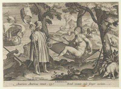 Theodoor Galle, Allegory of America, ca. 1600, from the Nova Reperta, Metropolitan Museum of Art, New York
