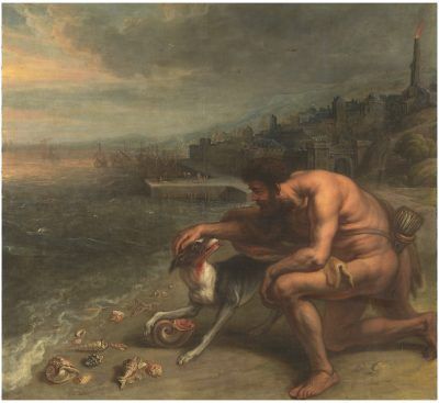 Theodor van Thulden after Peter Paul Rubens, The Discovery of Tyrian Purple, ca. 1636–1638, Museo del Prado, Madrid