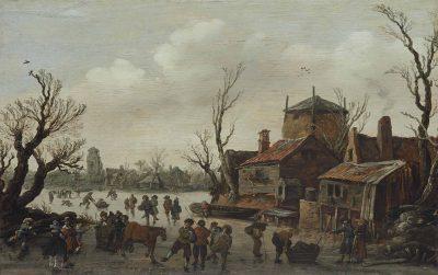 Jan van Goyen, Winter Landscape, 1626, Christie's, New York, sale June 4, 2014, lot 6