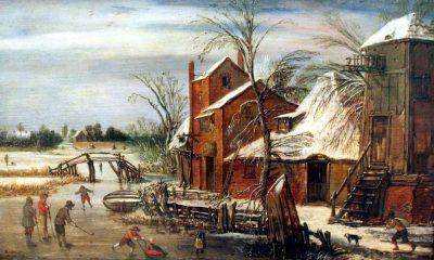 Esaias van de Velde, Winter Landscape, 1615, Museum der bildenden Künste, Leipzig