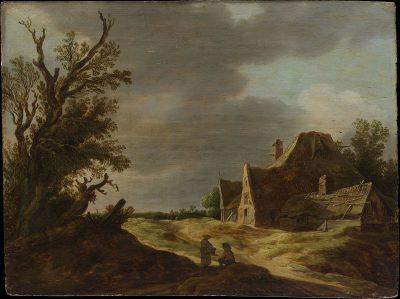 Jan van Goyen, Sandy Road with a Farmhouse, 1627, Metropolitan Museum of Art