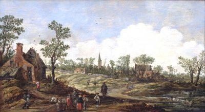 Jan van Goyen, Landscape with a Village View, 1626, Museum de Lakenhal, Leiden