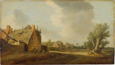 Jan van Goyen, Village Street with Peasants, 1628, Städel Museum, Frankfurt