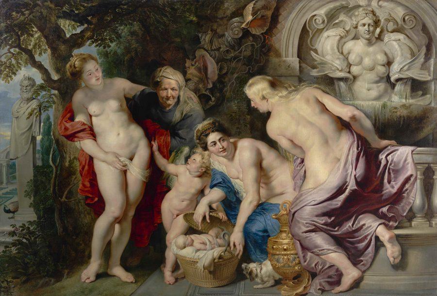 Rubens Peter PaulDie Auffindung des Erichthoniusknabenum 1616Öl auf LeinwandGE111The Discovery of the Infant ErichthoniusLa Scoperta di Erittonio fanciulloLa Découverte d'Erichthon