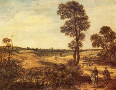 Esaias van de Velde, Two Horsemen in a Dune Landscape, 1614, Rijksmuseum Twenthe, Enschede