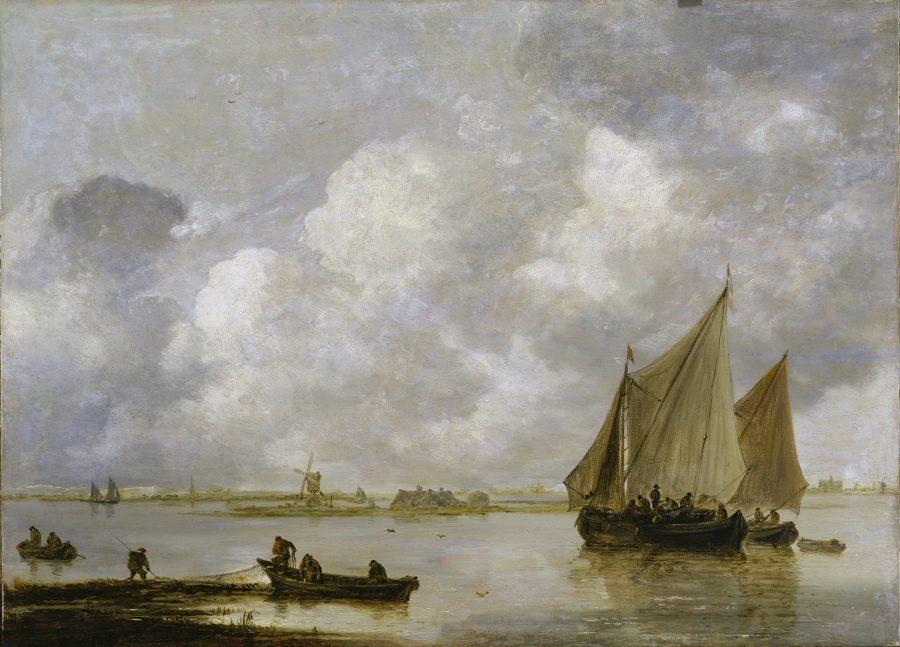 Jan van Goyen, Ships on the Haarlemmermeer, 1656, Städel Museum, Frankfurt