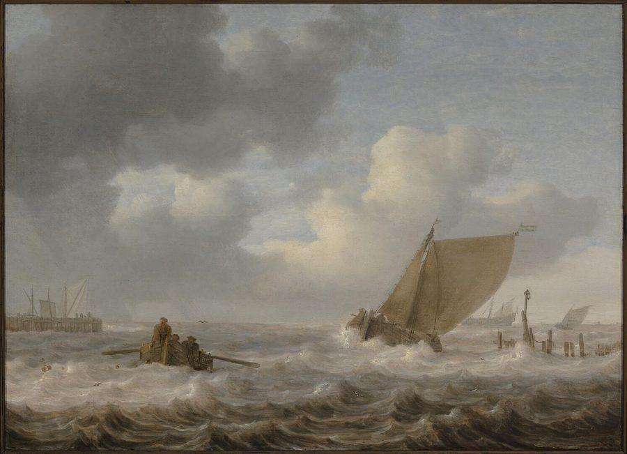 Jan Porcellis, Estuary with Ships in Stormy Weather, ca. 1630, Museum Boijmans van Beuningen, Rotterdam