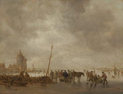 Jan van Goyen, Frozen River with Skaters, ca. 1641 Rijksdienst voor het Cultureel Erfgoed