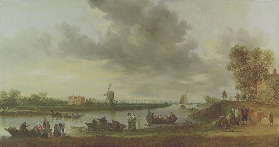 Jan van Goyen, View of the River Vliet at Voorschoten with House Oostbos, 1642, Museum de Lakenhal, Leiden