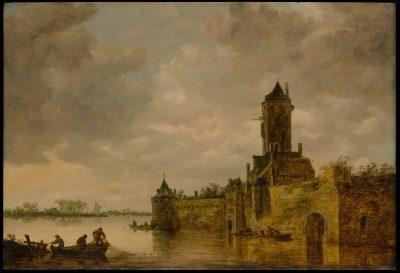 Jan van Goyen, Castle by a River, 1647, Metropolitan Museum of Art, New York